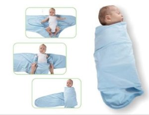 Miracle blanket with baby and demo
