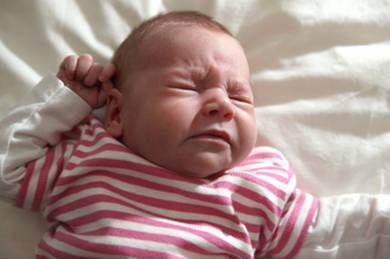 Newborn sneezing