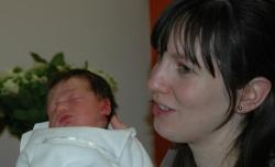 Baby diary entry: newborn baby and mother