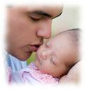 Newborn and daddy thumbnail photo