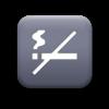 No Smoking icon grey