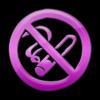 Pink no smoking sign