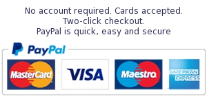 PayPal logo and account info