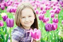 Sleep Apnea Child with Flowers