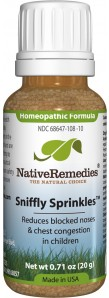 Native Remedies Sniffly Sprinkles bottle