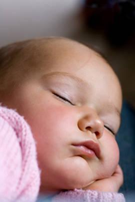 Cute baby girl asleep