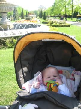 Five months old baby in Regent's Park London
