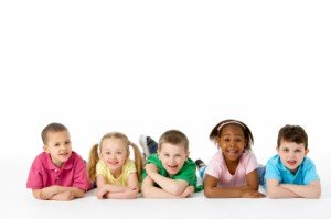 Group of five children