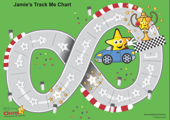 Track Me reward chart from KiddyChart