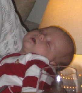 Two months old baby sleeping